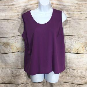 Apparenza plumb purple tank shirt Large #624